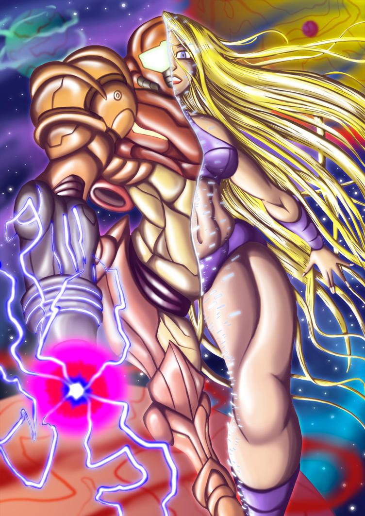 Samus Aran Colored by BlueStrikerBomber