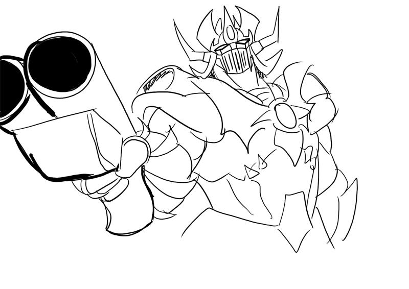 Mazinkaiser with a shotgun. by BlueStrikerBomber