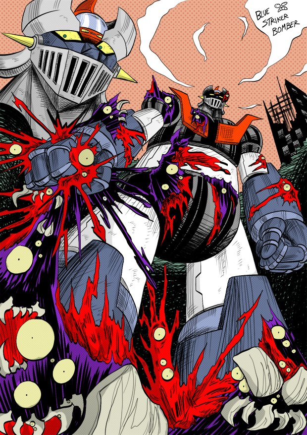 Mazinger Z (Shin Getter Robo Armageddon style). by BlueStrikerBomber