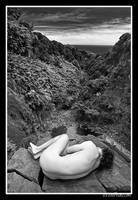 On The Edge BW by aFeinNude