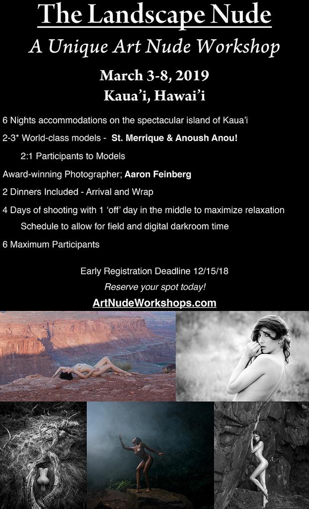 Art Nude Workshops March 2019 - Kaua'i by aFeinNude