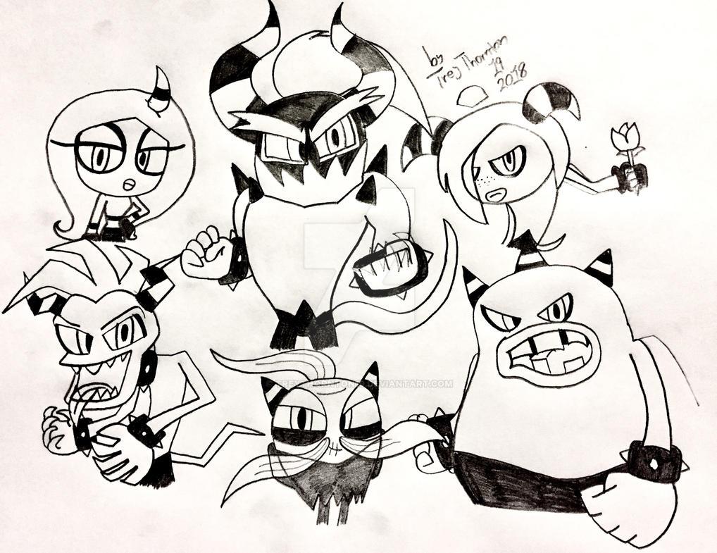 Deadly Six (sketch) by Treythornton19