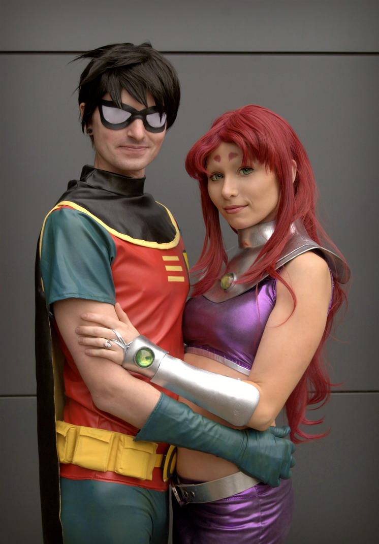 Starfire and Robin by Daws3