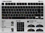 Krita 2.8 Shortcuts Sheet Dark Chinese