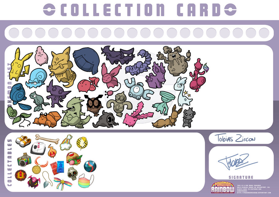 PKMN Rainbow - Tobias' collection card by Nk-kN