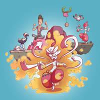 Pokemon Rainbow48 - Catch Train Mega by Nk-kN