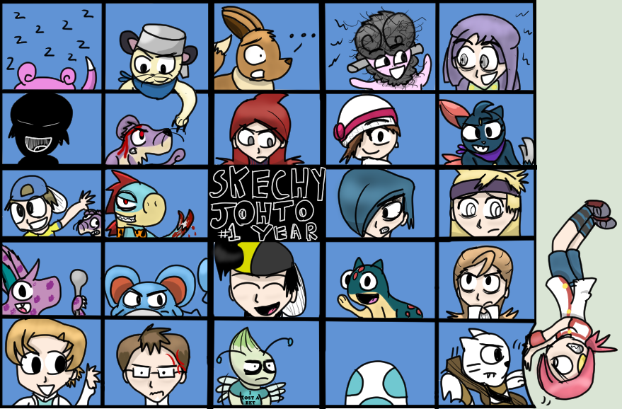 Sketchy Johto nuzlocke 1 year aniversery! by Charlemagne1