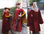 The Red Velvet Dress by Faehwin