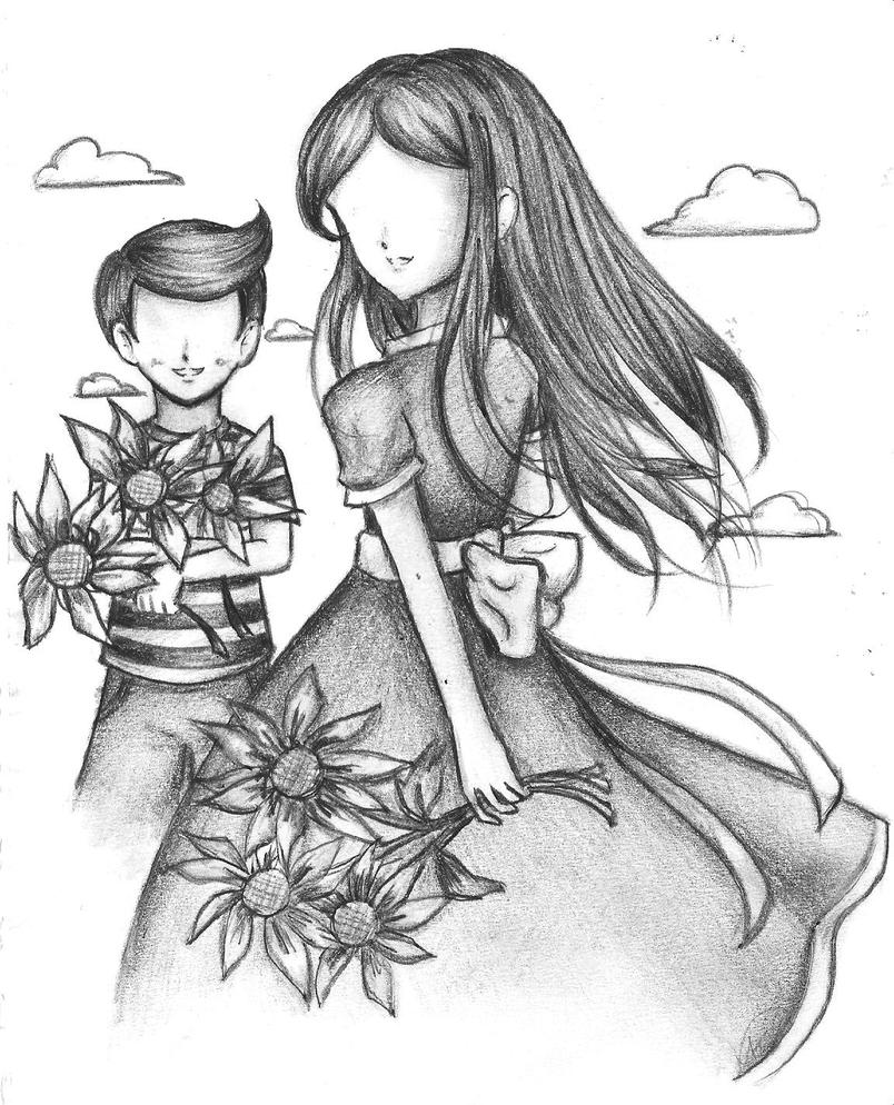 Sunflowers: Mother and Son by OmitsuMarceXD on DeviantArt
