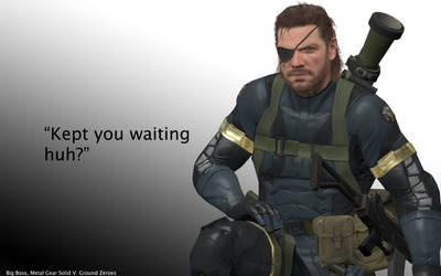 Metal Gear Solid Kept You Waiting Huh