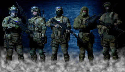 FSB Spetsnaz 'Alfa' Group by Kommandant4298