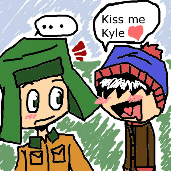 south park kiss me kyle by lilsnowfox on deviantart