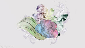 Abstract pastel flower wallpaper