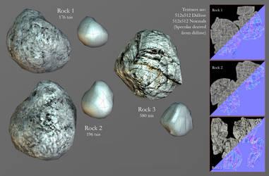 Low-poly rocks by ArtOfArkham