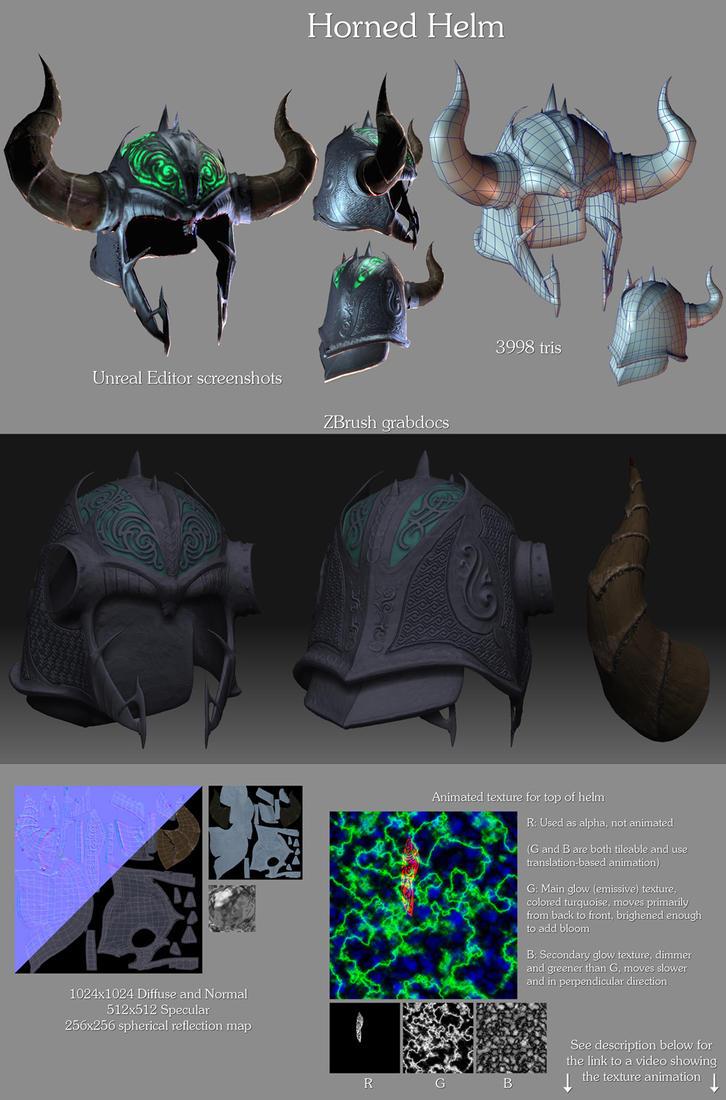 Horned Helm by LaithArkham
