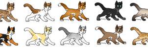 Warrior Cat Breedables - OPEN FOR ADOPTION by Miimsey