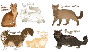 Warrior Cat Adopts [CLOSED] by Miimsey