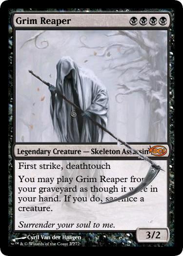 Reaper cemeteries mtg magic english cemetery reaper