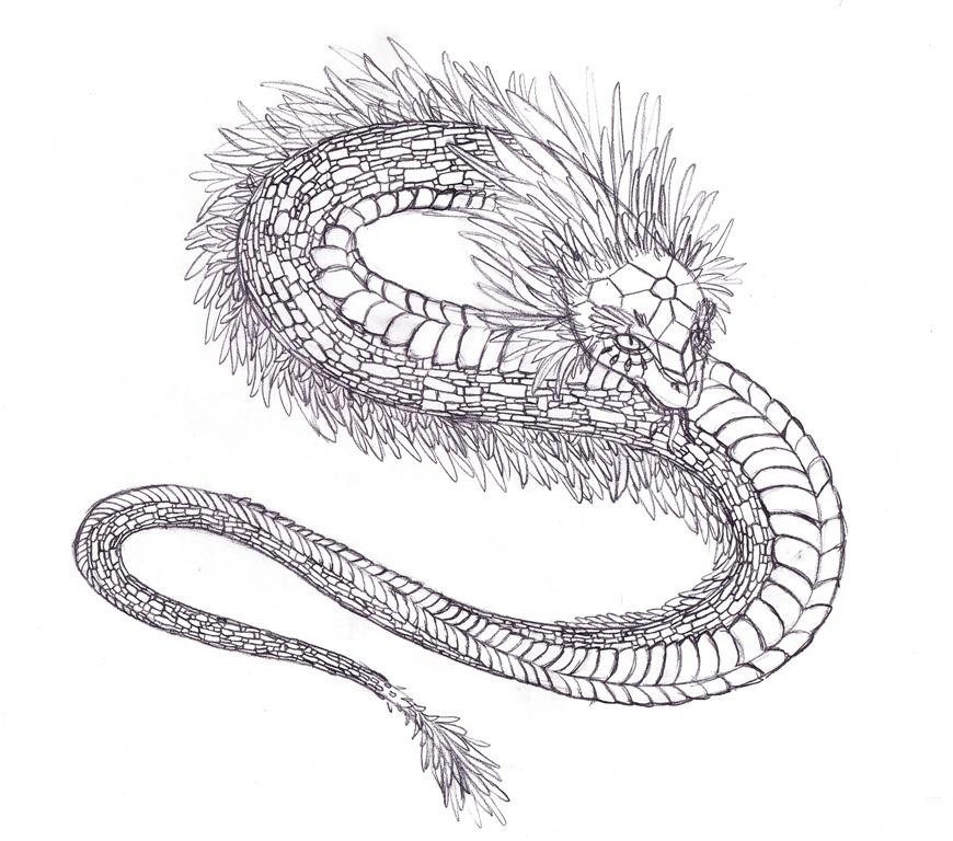 Quetzalcoatl Sketch by ZoeHildebrand-R
