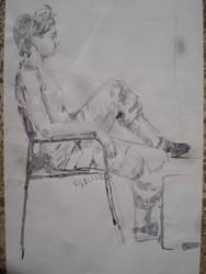 figure, lavi, drawing, ink work, work, girl, women by cevik