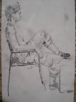 figure, lavi, drawing, ink work, work, girl, women