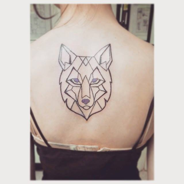 Geometric Wolf Tattoo by IndiaVaughn on DeviantArt