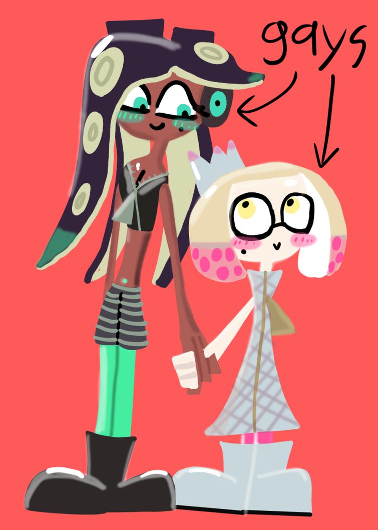 Pearl x Marina fan art by BloodHaven666