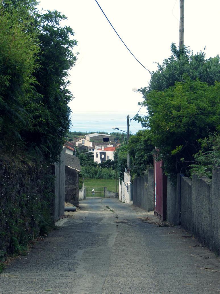 village street by Fluessiges-Feuer