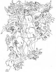 nighttime madness (to George Grosz) by DStoyanov