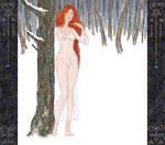 Winter forest (samodiva) by DStoyanov