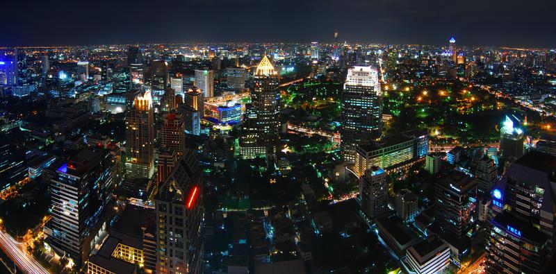 Bangkok skyline by lux69aeterna