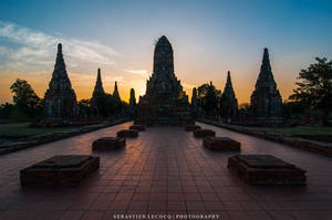 Ayuthaya - Wat Chai Wattanaram by slecocqphotography