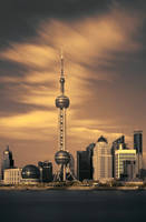 Shanghai Skyline by slecocqphotography