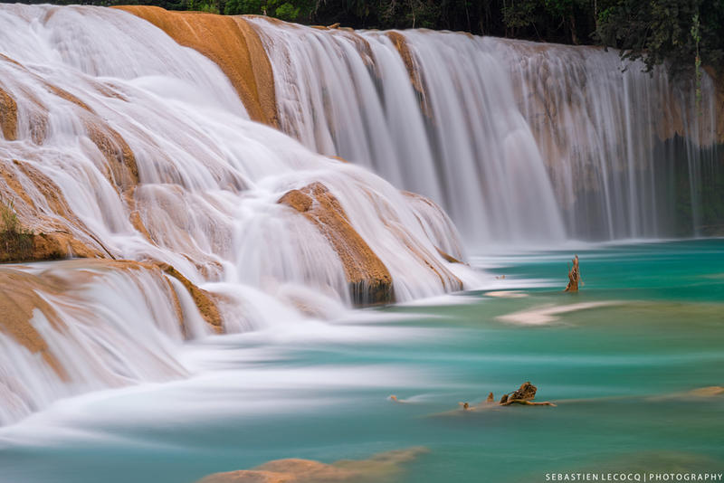 Mexico   Waterfall of the Gods by slecocqphotography