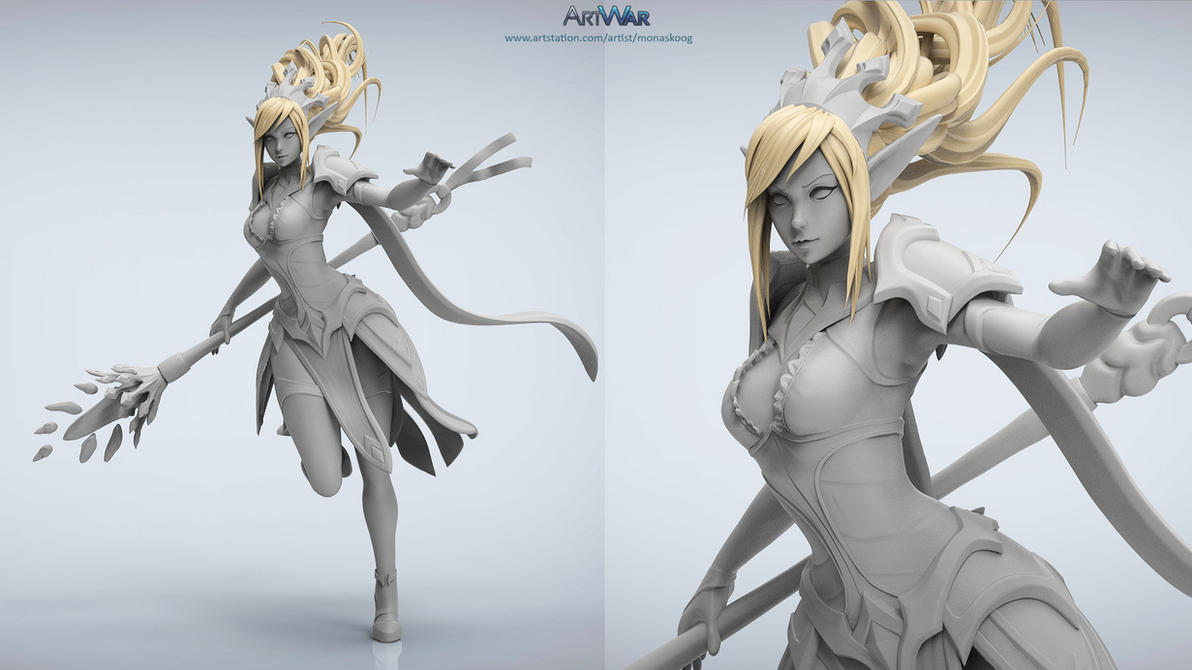 #ARTWAR submission WIP Caster/Mage by Skylarc88