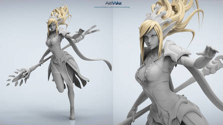 #ARTWAR submission WIP Caster/Mage