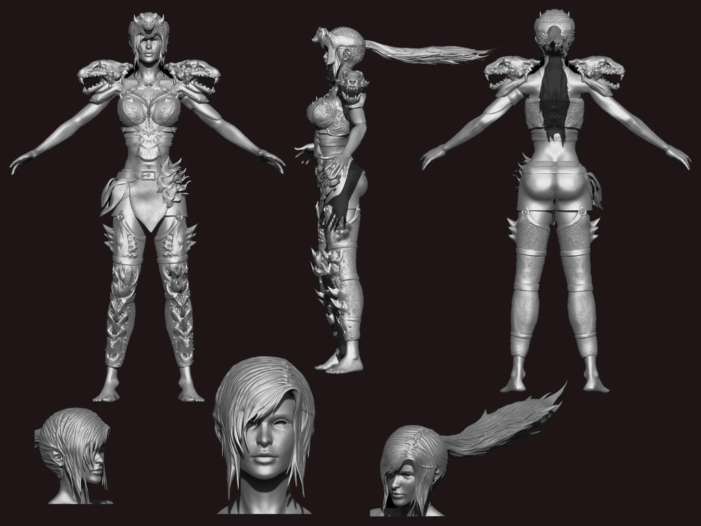 Artemise 3d Sculpting Zbrush Wip By Julika Nagara On Deviantart