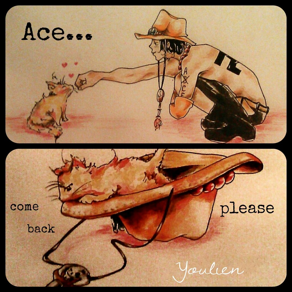 Portgas D. Ace and Rielle-neko by Youlien