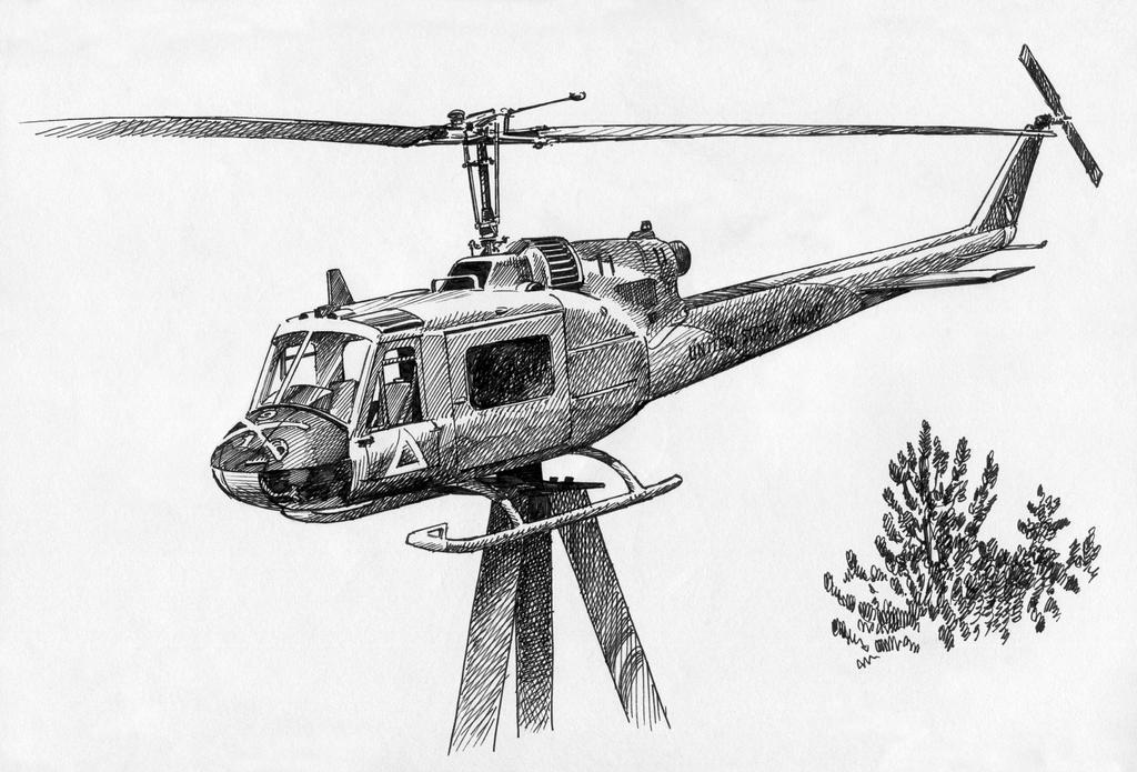 Bell UH-1 helicopter by drewjohnson61