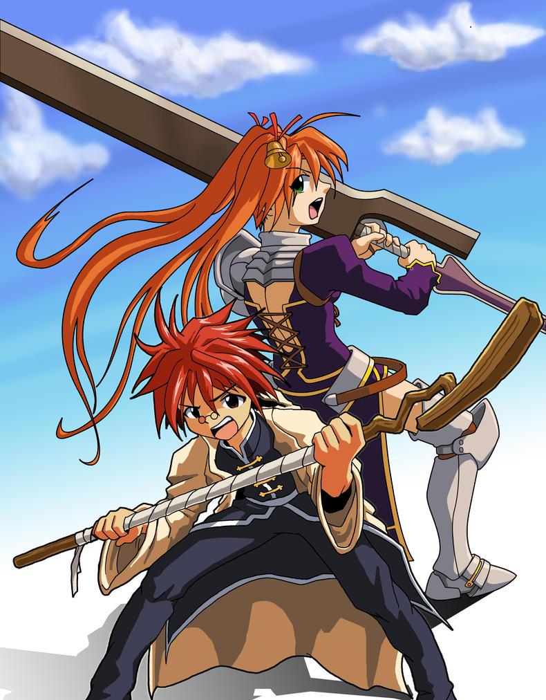 Negi and Asuna by shiroboi