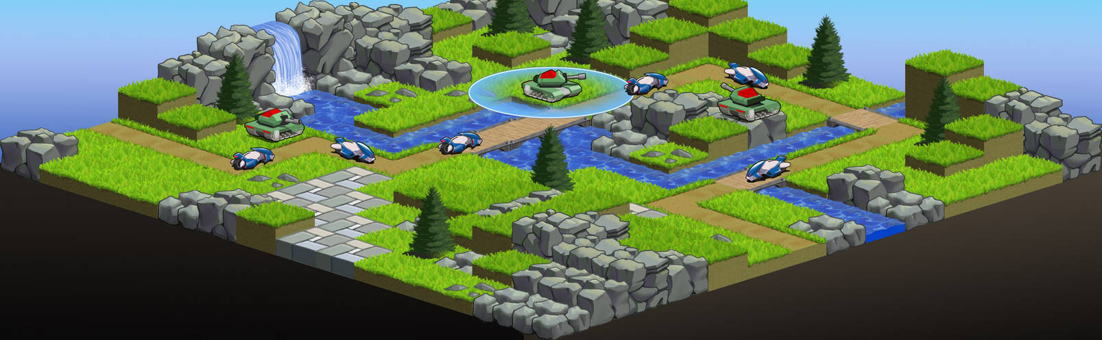 Grasslands Map1 with Tanks