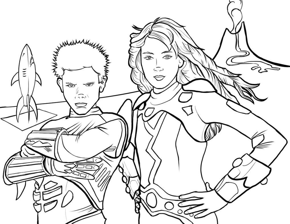 Sharkboy And Lavagirl Coloring Page 614556539 on shark wallpaper