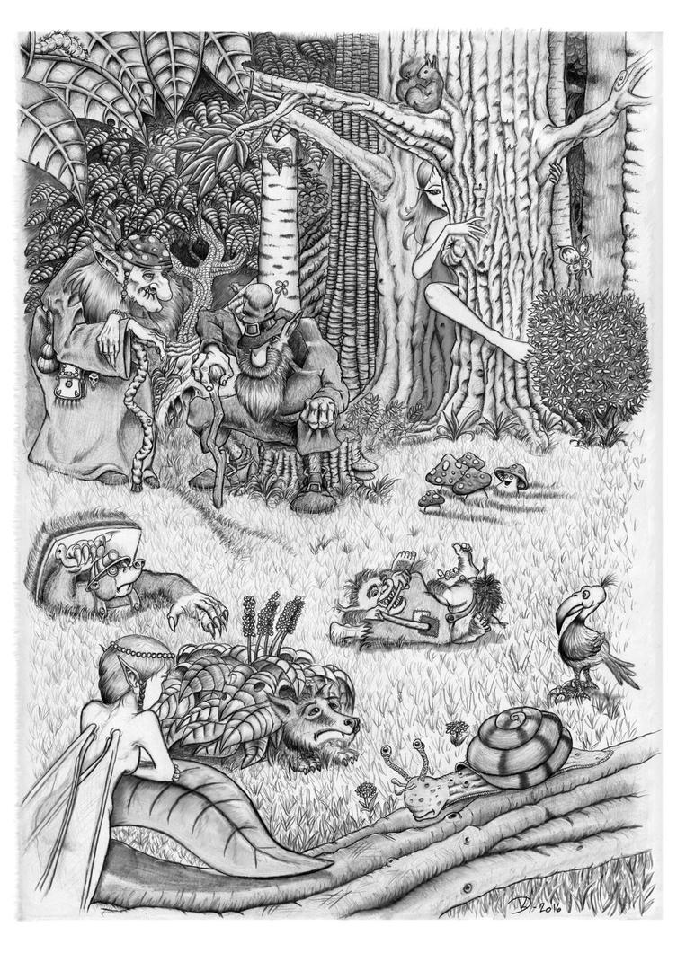 Forest Serenity by Gworeth