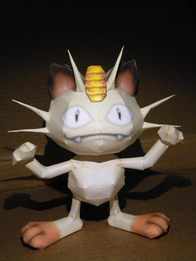 Meowth by jewzeepapercraft