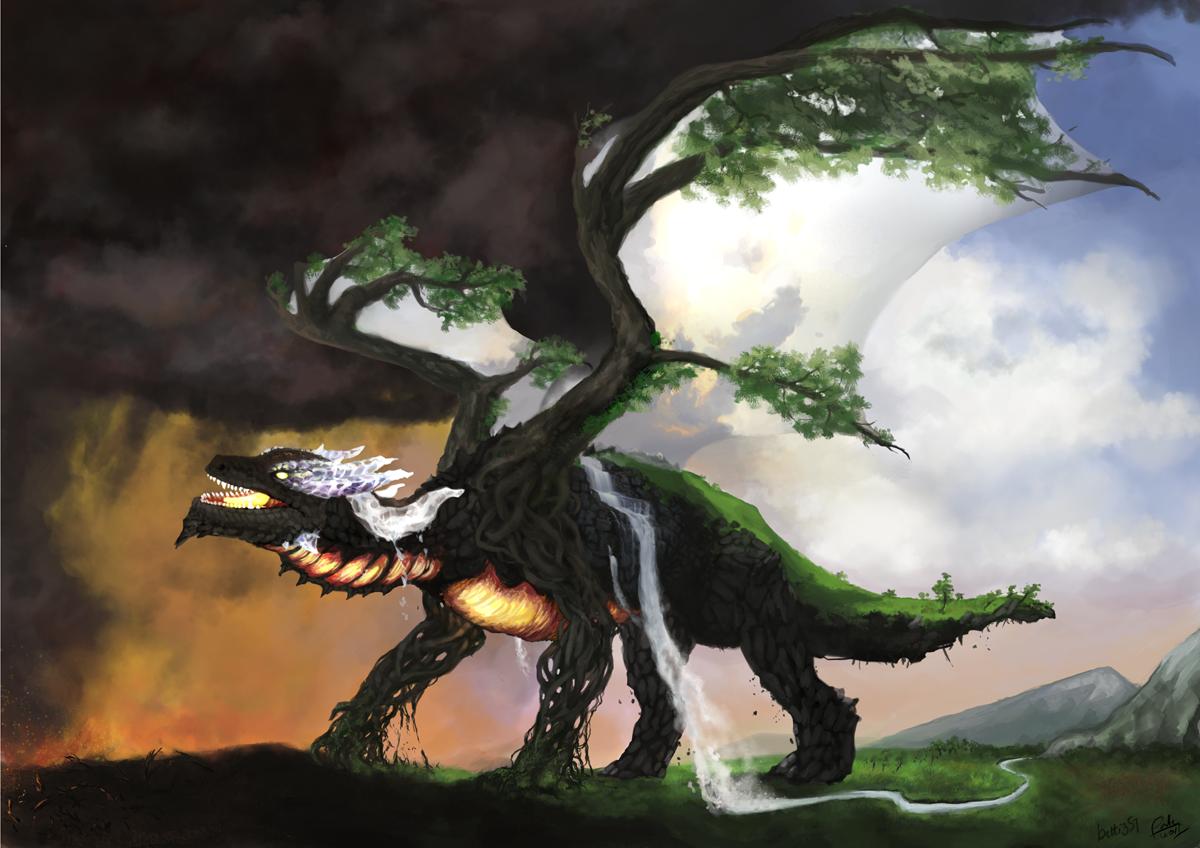 Elemental dragon by betti357 on DeviantArt