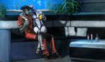Mass Effect -  Javik and Liara