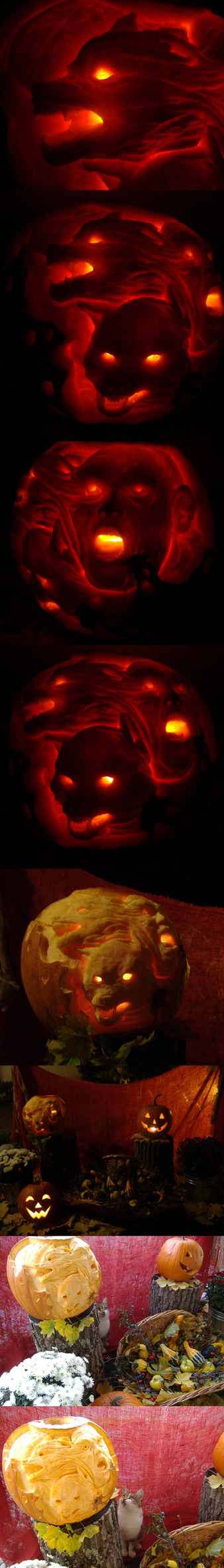 Pumpkin carving - doodling by betti357