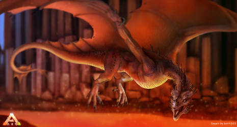 Fire wyvern from Ark Survival Evolved by betti357
