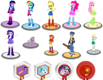 Figures and Power Disc (Equestria Girls)