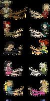 Total Drama Girls (Footsies Vector Pack)